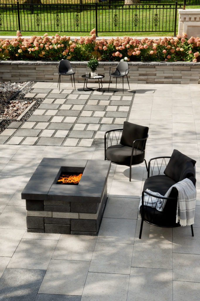 Backyard Ideas with paving stone, outdoor first and garden walls
